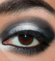 stunning black and white eye makeup