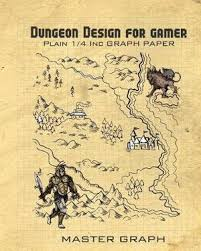 Dungeon Design For Gamer Plain Square Graph Paper For Board Game By
