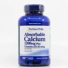 Details about Puritan's Pride <b>Absorbable Calcium</b> 1200mg with ...