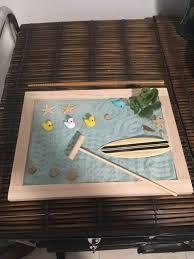 do it yourself zen garden kit diy crafts project beach ducks blue sand