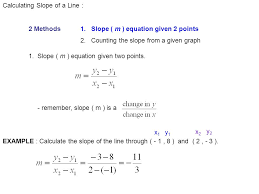 calculating slope of a line