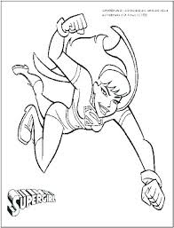 Coloring Pages Dc Comics Supergirl Coloring Pages Comic Page