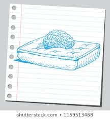 mattress drawing. Perfect Mattress Brain On Bed Mattress Resting And Comfort Concept Throughout Mattress Drawing