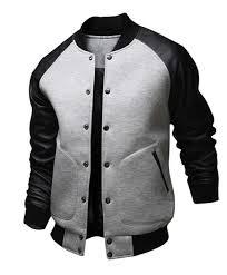 grey and black letterman jacket