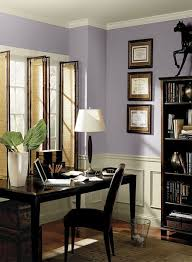 home office paint colors.  Home Benjamin Moore Home Office Purple Paint Color Scheme  Wisteria Jute Trim  Carbon Copy Accent Economy Paint Supply Inside Home Office Colors C