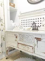 Chippy Buffet Turned Bathroom Vanity Shabby Chic Bathroom Vanity Shabby Chic Bathroom Decor Chic Bathrooms