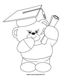 Disegno Da Colorare Un Orsetto Con Diploma Mamma E Bambini