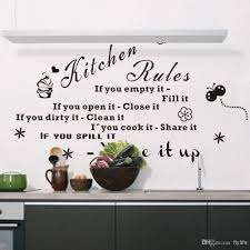 kitchen rules if you empty it fill it quotes wall decals black letters and decorative pattern stickers for kitchen decoration alphabet wall stickers  on adhesive wall art letters with kitchen rules if you empty it fill it quotes wall decals black