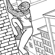 Spiderman jumps from the vehicle. Spiderman Coloring Online Coloring Home