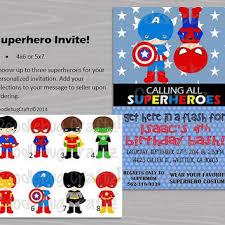 Personalized Superhero Birthday Invitations Shop Captain America Birthday Invitation On Wanelo
