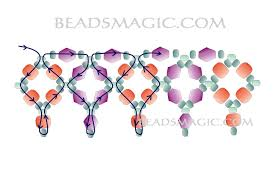 Free Beading Patterns To Download Inspiration Free Pattern For Beaded Necklace Sky Light Beads Magic