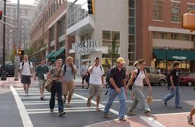 pedestrians crossing the street at tech square source glassdoor com