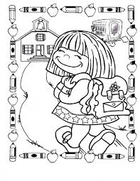 First School Coloring Pages Cool First Day Of Kindergarten ...