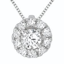 diamond halo pendant semi mount