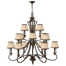 plymouth 3 tier 15 light chandelier by hinkley lighting