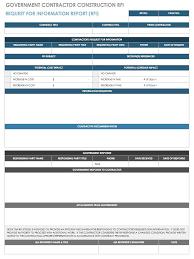 Construction Rfi Process Flow Chart Rfi Template Sada Margarethaydon Com