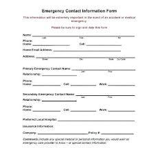 Employee Emergency Contact Template