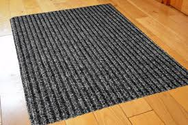 superior rubber backed runner rugs funkys medium ribbed grey black non slip door mat rubber backed
