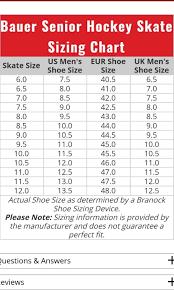 Bauer Supreme Size Chart Bauer Supreme 140 Sr Size 8 Ice Hockey Skates For Sale