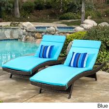 chaise lounge chair cushion mattress set 2 outdoor waterproof patio pool blue cushions