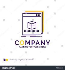 Name Art Design App Company Name Logo Design Software App Stock Vector Royalty