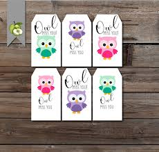 Summer Thank You Friend Owl Gift Tag Owl Miss You Leaving Tag Last Day Of School