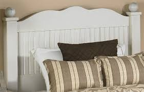 white beadboard bedroom furniture. Beadboard Curved Headboard Finished In Sturbridge Close Up White Bedroom Furniture E