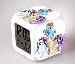 My Little Pony Night Light LED 7 Color Flash Changing Digital Alarm Clocks  Bedroom Wake Up