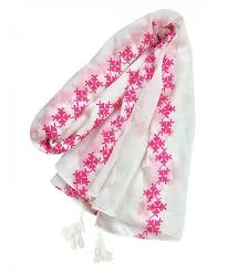 embroidery womens scarf lightweight
