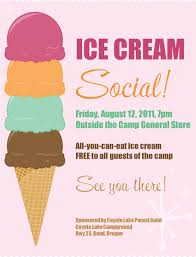 ice cream social printable pta ideas ice ice cream social printable