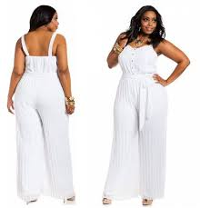 White Jumpsuits For Women Plus Size Choozone Fashion