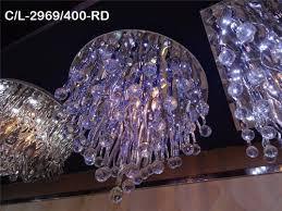 glass contemporary ball chandelier light