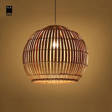bamboo wicker rattan round ball globe pendant light fixture with regard to decorations 4
