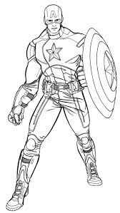 Small Picture Coloring Pages Printable Captain America Coloring Pages Free