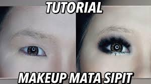 part2 tutorial makeup mata sipit cara pasang bulu mata cara pakai eyeshadow smokey eyes