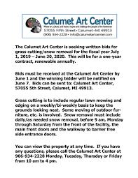 Snow Removal Calumet Art Center