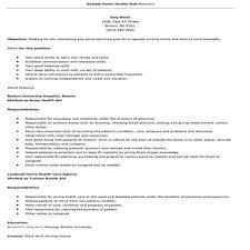 Home Health Care Job Description For Resume 10 Health Care Assistant Resume Proposal Resume