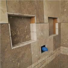 installing prefab shower niche