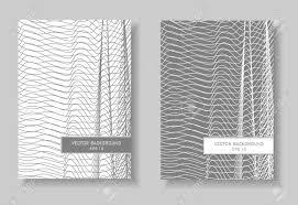Book Covers Set Abstract Layout Gray And White Line Art Design