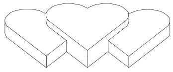 Half Heart Template Best Photos Of 5 Tall Heart Template Large Heart Template