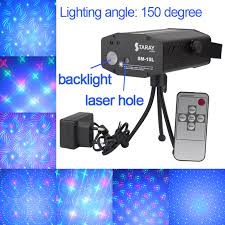 blue led background 4 grating patterns effects mini dj laser projector stage lights disco cheap lighting effects