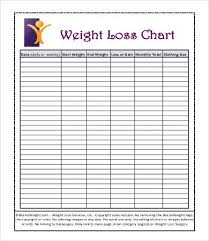 Weight Tracker Chart Printable Sample Weight Loss Charts 9 Free Pdf Documents Download Free