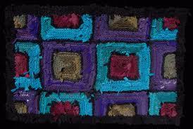29 purple olive teal ruby rag rug