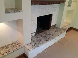 granite fireplace hearth installation on north ave in chicago