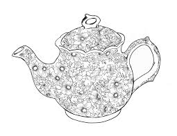 Small Picture Teapots And Teacups Coloring Pages Adult New Teapot Page glumme