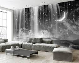 Aangepaste Behang Woonkamer Slaapkamer Muurschildering Behang Zwart