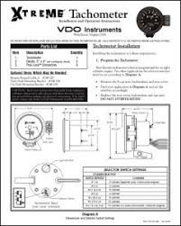 manuals for vdo equipment marine diesel basics vdo extreme tachometer installation instructions