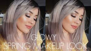 glowy spring glam cool toned makeup tutorial