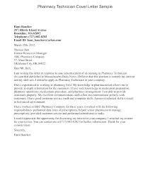 Sample Cover Letters For Resumes Sample Cover Letter Pharmacist