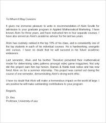 Reference Letter For University Admission - Letter Of Recommendation